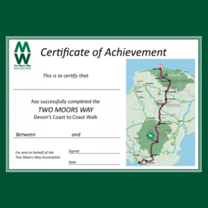 TWO MOORS WAY CERTIFICATE
