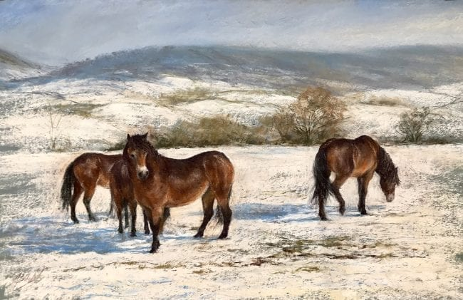 Snow Ponies, £345 mounted