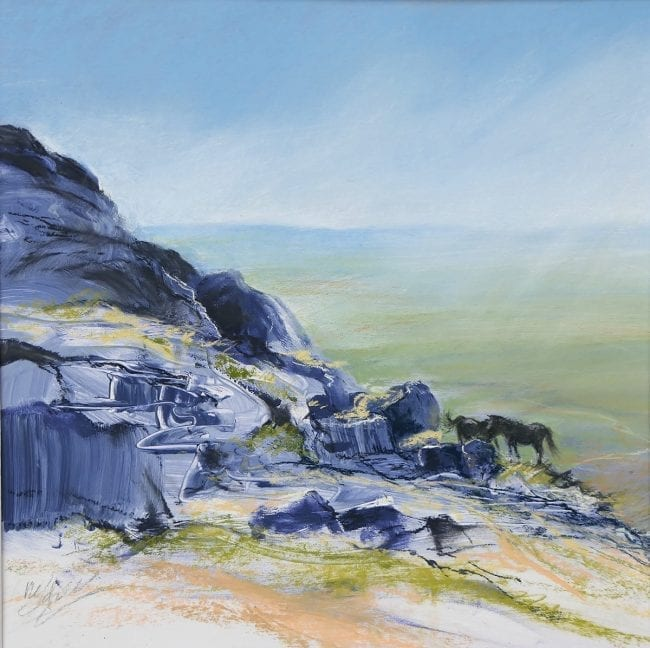Ponies on the Tor, £195 mounted